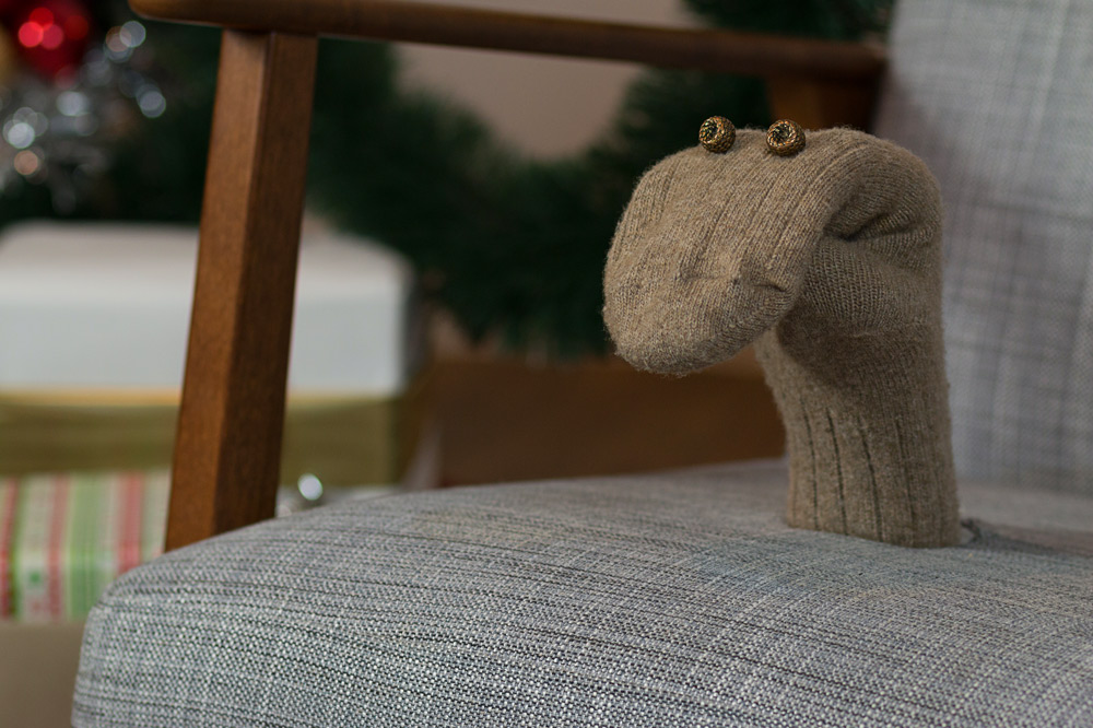 Moodbild Weihnachten Socke